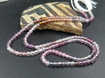 """Gorgeous Aaaaa+ Natural Purple Pink Orange Gem Spinel Fine Faceted Beads 12.9"""""""
