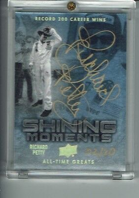 2012 Ud All Time Greats Richard Petty 7X Champ Gold Ink Autograph Card 2/20