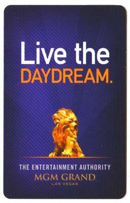 MGM GRAND casino*UBER back Live the DayDream #lvp799766*Las Vegas hotel key card