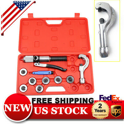 Hydraulic Tube Expander 7 Lever Tubing Expanding Tool  Swaging Kit HVAC