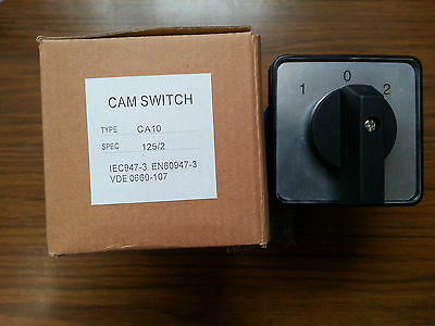 A 125 Amp Rotary Cam Changeover Switch 4pole 3position 1-0-2 CA10 Phase Selector