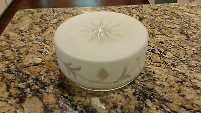 Vintage Ornate Frosted White Glass Light Shade Globe Ceiling Lamp Cover Fixture