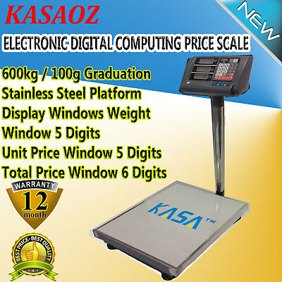 600kg Electronic Virtual Computing Price Scale Weight Store Postal Business