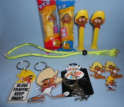 Speedy Gonzales Vintage Collection - Key Rings, Magnets, Pez Dispensers & Pin