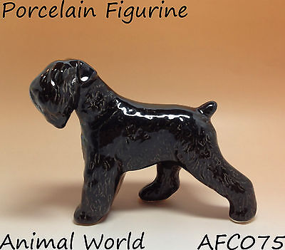 Sealyham Terrier statuette of porcelain Dog Souvenirs Russia dog black figurine