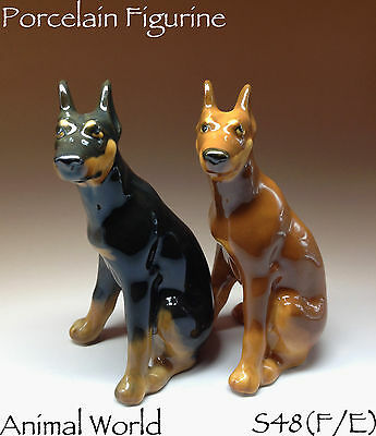Dog Figurines Doberman Pinscher Porcelain souvenirs from Russia realistic animal