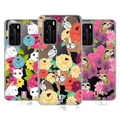Head Case Designs Floral & Animal Pattern Soft Gel Case For Huawei Phones