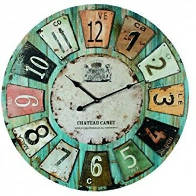 Wooden Wall Clock Antique Style Chateau 60cm Diameter (24 Inches)