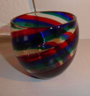 """TOP! Prachtvolle Designer Vase """"A Canne"""" Paolo Venini Murano Italy!"""