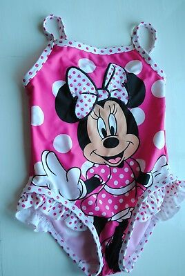 Girls 'DISNEY' Minnie Mouse SWIMSUIT/SWIMMING COSTUME, AGE 12-18 MONTHS.