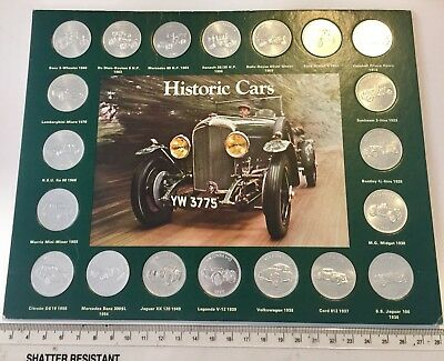 Complete set of Shell Coins - HISTORIC CARS FROM SHELL, from circa 1971