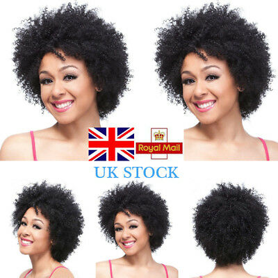 Women Afro Curly Short Wig Heat Resistant Fluffy Full Hair Ladies Synthetic Wigs