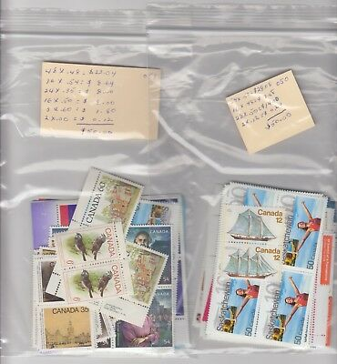 Canada Mint Stamp Lot $100.00 Face For $70.00 (# 17)