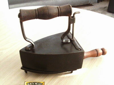 Vintage Cast Iron Clothes Iron With Stand