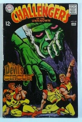 Challengers Of The Unknown  # 65 & 68 Very Good   1969