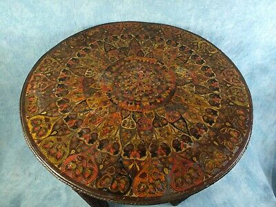 UNUSUAL Folding Anglo-Indian  TABLE Brass Tea Coffee Vintage Early