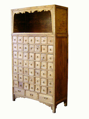 Antique Chinese Apothecary Cabinet, Cypress Wood, Circa mid to late 18th century