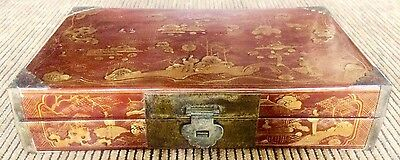 Antique Shanxi Hand Painted Tuiguang Lacquer Boxes (8126A), Circa 1850-1899