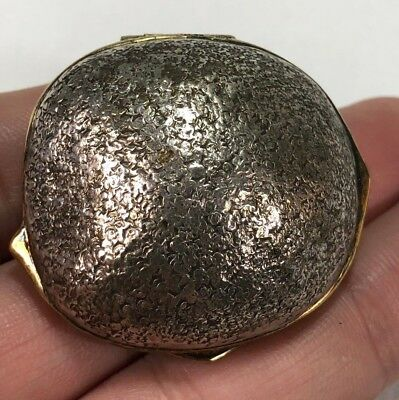 Rare & Unusual Gold Wash & Sterling Silver Nut Shaped Snuff Box by Mexico TANE