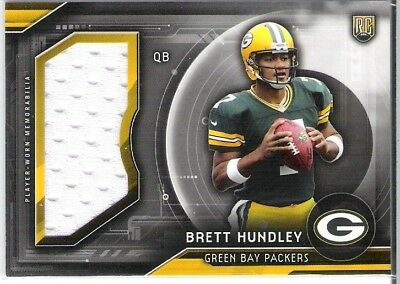 "Topps Football Rc ""brett Hundley "" Relic Jersey / Packers"