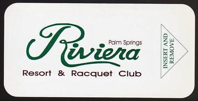 RIVIERA RESORT and RACQUET CLUB**PALMS SPRINGS CA*hotel  key card Fast Ship #109