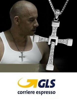 Collana Ciondolo Croce Grande Dominic Toretto Fast And Furious Vin Diesel C003