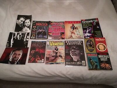 Collection of Dracula/Vampire Stills, Magazines & Paperbacks