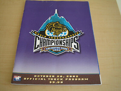 breeders cup program arlington park 26 october 2002 (rock of gibraltar)