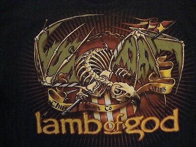 Lamb Of God Band Concert Tour Fan Black Cotton T Shirt Size M