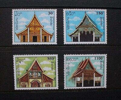 LAOS 1994 Laotian Pagodas . Set of 4. Mint Never Hinged. SG1392/1395