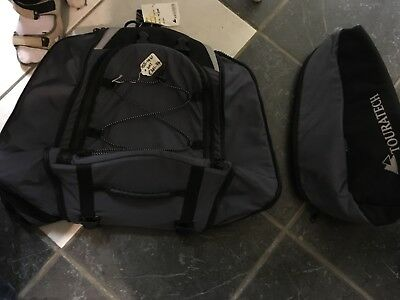 Touratech universal pillion seat bag with zip on side panniers