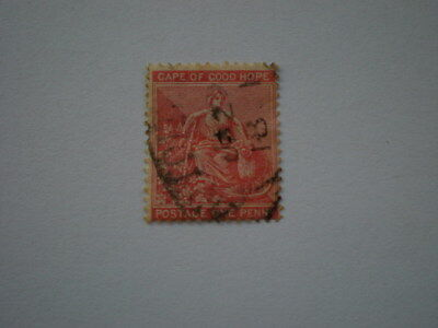 Cape of good hope Griqualand G overprint on early used 1d stamp unchecked