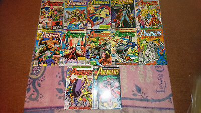 Avengers Bronze Age Lot Of 12 - 197 192 180 194 185 187 188 190 186 193 191 200