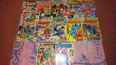 Avengers Bronze Age Lot Of 12 - 162 172 179 170 171 160 182 184 178 167 189 114
