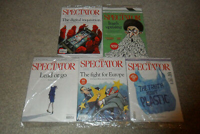 The latest 5 New Sealed Issues Of THE SPECTATOR Magazine (Up To 3 February 2018)