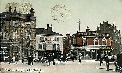 UK Hanley - Crown Bank WWI Canada ON Copetown Cover War Tax Stamps postcard