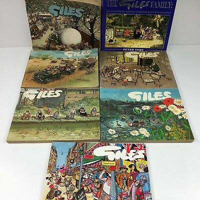 7 x Giles Cartooons Vintage Annuals 1957-1993 Collection Bundle Daily Express