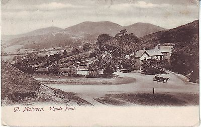 UK Great Malvern - Wynds Point 1904 cover mailed postcard