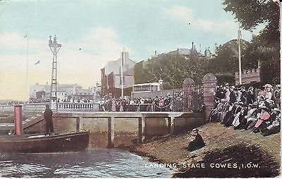UK I.O.W. Cowes - Landing Stage 1908 mailed postcard