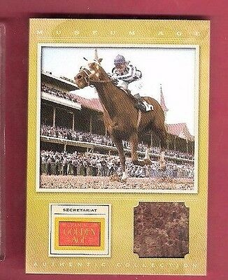 Secretariat Triple Crown Horse Racing Relic Swatch Saddle ? Card Kentucky Derby