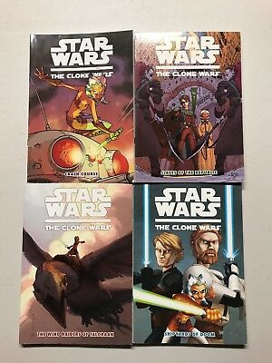 Lot Of 4 STAR WARS Dark Horse Comics Digest TPB THE CLONE WARS Collections