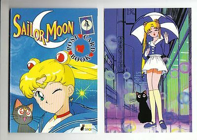 Sailor Moon Post Card Book Luna Edition 14 Postkarten in Topzustand !