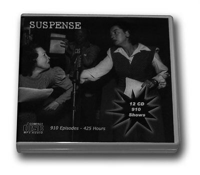 SUSPENSE OLD TIME RADIO - 12 CD - 910 mp3