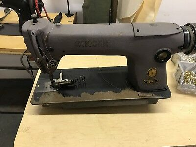SINGER INDUSTRIAL SEWING MACHINE, MODEL#251-1 head only. Set up for edge binding