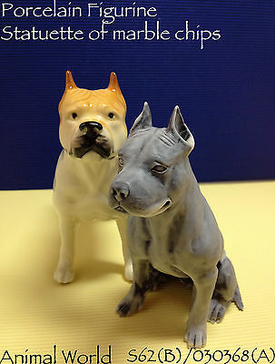 Figurine dog Staffordshire Bull Terrier porcelain and marble chips Souvenirs Rus