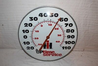 "Large Vintage 1960s IH International Harvester Farm Tractor 18"" Thermometer Sign"