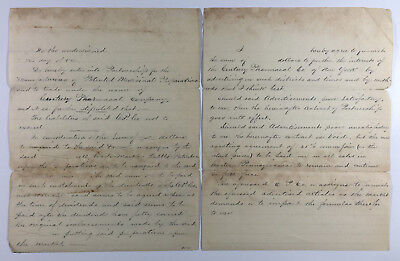 Antique Document Partnership Contract for Century Pharmacal Co Patent Medicine
