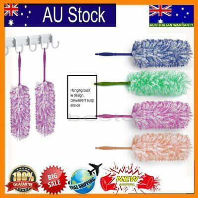 Long Anti Microfiber Cleaning Duster Cleaner Handle Feather Dusting Magic U@/