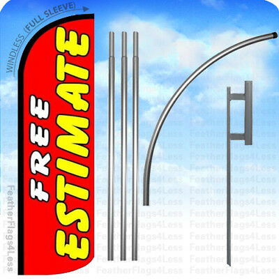 Pack of 3 Grand Opening King Swooper Feather Flag Sign Kit with Complete Hybrid Pole Set Bail+Bonds,+Free+Estimate
