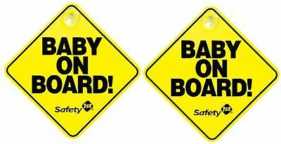 "Safety 1st ""Baby On Board"" Sign, 2-Pack Yellow"